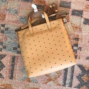 Madewell Mini Perforated Leather Tote NWT